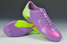 Nike Mercurial Vapor X IC Indoor Boots - Purple Fluorescent Yellow New Soccer Shoes 2013     #Purple  #Womens #Sneakers