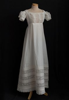 Romantic Period Clothing at Vintage Textile: #2553 1820s dress