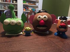 Toy story painted pumpkins to match my kids who are going as woody and buzz