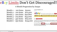 How To Make Money on Ebay w/ Ds Domination Pro - Raise My Limits!  http://workwithjacque.com