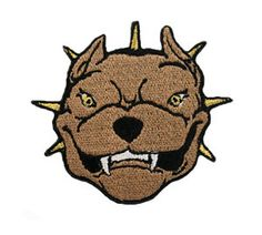 brown Pit Bull Terrier Appliques,Appliques,Embroidered patch,Sewing, Patch,embroidery design,Embroidery,Textile,Fiber,Needlecraft,Fabri by omnisupply on Etsy