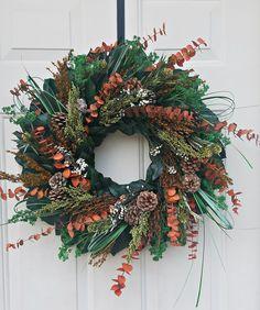 Purple Wreath, Lavender Wreath, Hydrangea Wreath, Dried Flower Wreaths, Greenery Wreath, Dried Flowers, Wreaths For Sale, How To Make Wreaths, Indoor Wreath