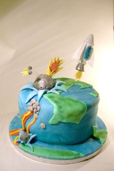 doomsday cake - end of the world meteor cake