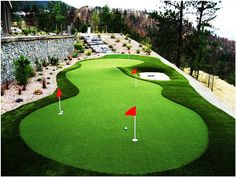 #Artificial turf can be a great option for a #GolfCourse in your backyard..  #MalibuTech #Ahmedabad