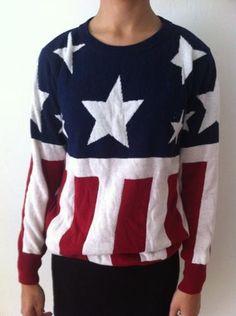 Amerikaanse vlag trui - Mt S - Prijs: € 5,00
