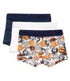 3-pak boxershorts | Hvid/Dyr | Børn | H&M DK