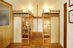 double-up bunk space with....firefighter's pole?