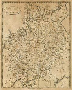 Aaron Arrowsmith - Russia in Europe, 1812 - Fine Art Print