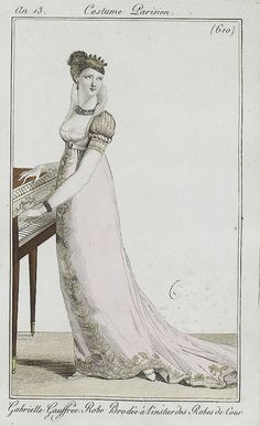 Piano. I have this plate in my collection but not in such good condition. Costume parisien, 1805
