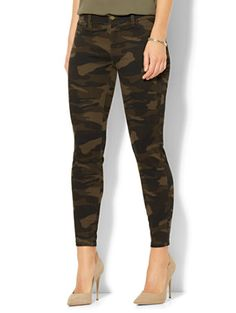 Shop The Crosby Pant -  Slim-Leg Ankle - Camouflage. Find your perfect size online at the best price at New York & Company.