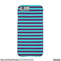 Blue and Purple Stripe Barely There iPhone 6 Case