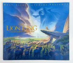 Vtg LE DISNEY LION KING MOVIE COMMEMORATIVE PROGRAM BOOK ~ SERICEL INSIDE #Disney #LionKing