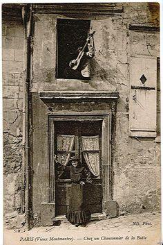 Singer in 1904 Montmartre