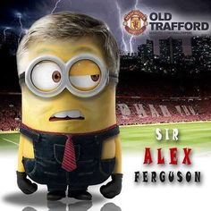 Manchester United Old Trafford, Manchester United Football, Manchester Logo, Despicable Minions, Fantasy Comics, Comic Movies, Man United, Special Characters, Soccer
