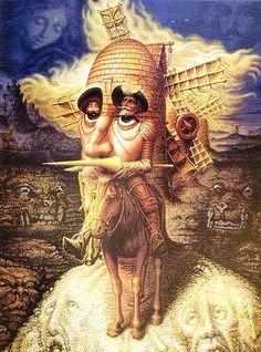 """El que lee mucho y anda mucho, ve mucho y sabe mucho"" Don Quijote.- by Wlingua"