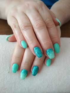 green gel and glitter