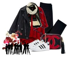 """""""Untitled #70"""" by ladyshouq on Polyvore featuring J Brand, Boutique Moschino, Givenchy, Chanel and adidas"""
