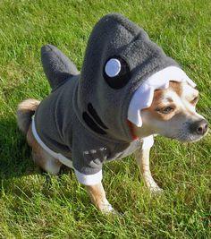 Shark Dog Hoodie Costume by aprikotDIY on Etsy, $30.00