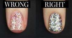 This Genius Trick Makes Putting On Glitter Nail Polish So Much Easier | Glamour