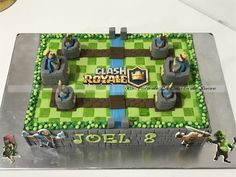 Resultado de imagen para tortas de clash royale Beautiful Birthday Cakes, Beautiful Cakes, Torta Clash Royale, Birthday Parties, Birthday Ideas, Candy, Cake Ideas, Minecraft, Themed Cakes