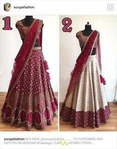Half Saree Lehenga, Lehnga Dress, Lehenga Style, Half Saree Designs, Lehenga Designs, Indian Attire, Indian Outfits, Indian Dresses, Bridal Lehenga Collection