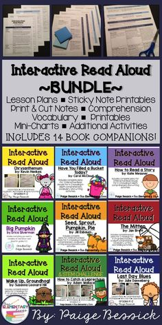 Interactive Read Alouds are a vital activity in any classroom.  This bundle makes them fun and easy.  All the hard work of creating in-depth comprehension questions, sticky notes, assessments and additional activities has been done for you!  This growing bundle currently includes 14 complete interactive read aloud resources with more on the way.  Don't miss out on this awesome deal.