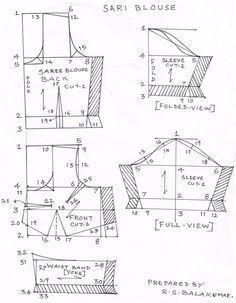 Drafting saree and blouse
