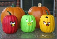 DIY HOLIDAYS : Angry bird pumpkins !!