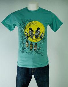 CAMISETA BUHOS LUNA. Gran variedad de camisetas exclusivas, de diferentes temáticas y gran calidad. 100% algodón. ¡ Encuentra la tuya !