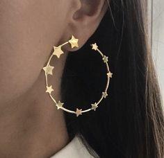 stars loop earrings