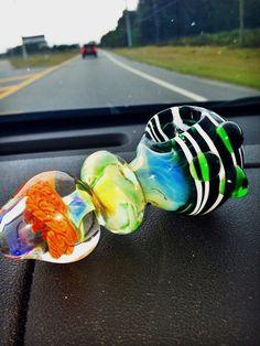 Multicolored Chameleon Glass Pipe