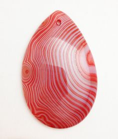 "Sardonyx 2"" Pear-Shaped Pendant Bead"