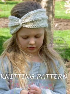 KNITTING PATTERN Turban Headband, Knit Turban Headwrap Pattern, Knitted Twist Headband Ear Warmer PATTERN (Toddler, Child, Adult Sizes)