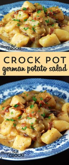 Delicious German Potato Salad for you crock pot!