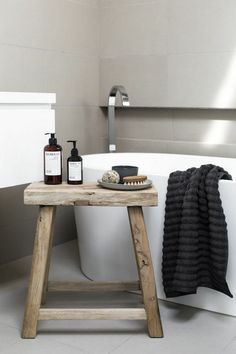 Wooden Bathroom Stool For Your Chair Acacia Wood Corner Christmas Tree S Andthat Decor Trend My