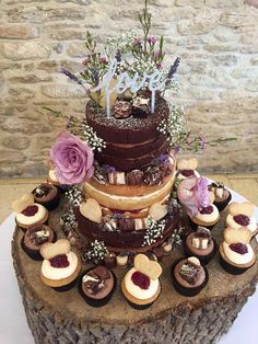 Wedding cake goals #nakedcake