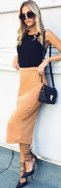#fall #executive #peonies #outfits |  Al Black + Apricot 'Looking Up Skirt'
