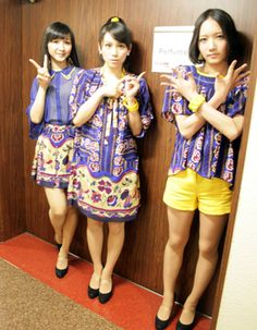 Perfume getting ready for today's DREAMFEST at Budokan venue.