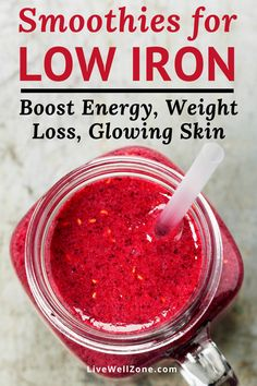 Healthy Smoothies for Low Iron (For Energy, Weight Loss, Natural Glow) - Best of Live Well Zone , Foods With Iron, Foods High In Iron, Iron Rich Foods, Recipes High In Iron, High Iron Diet, Iron Rich Recipes, Healthy Juice Recipes, Healthy Juices, Eating Clean