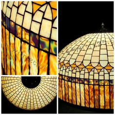 Wieniawa Piasecki lamp, inspired by L.C. Tiffany #tiffany #lamp www.e-witraze.pl #manmade #stainedglass #handcrafted #unique #metalware #louis #comfort #glass #flower #flowers #banded #dogwood #tablelamp www.e-witraze.pl #poland #design #art #light #retro #vintage