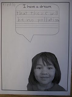 For Martin Luther King Jr.'s birthday. Very cute and great connection to their l. - For Martin Luther King Jr.'s birthday. Very cute and great connection to their lives! Kindergarten Social Studies, Kindergarten Writing, Literacy, Preschool Class, Preschool Ideas, Too Cool For School, School Stuff, School Fun, I Have A Dream