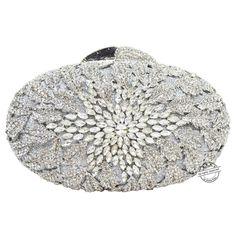 Silber kupplung abendtaschen frauen Luxus Diamant Kristall blume partei Geldbörse Diamant handtaschen kette kristall handtasche SC79 //Price: $US $57.72 & FREE Shipping //     #cocktailkleider