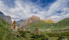 Caucasus mountains Eltyubyu City of the Dead Chegem Kabardino-Balkaria beautiful scenery