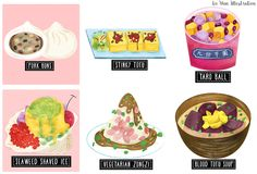 Delicious Taiwanese street food illustrations by UK based illustrator Liv Wan