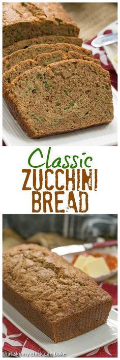Home Made Doggy Foodstuff FAQ's And Ideas Classic Zucchini Bread An Irresistible Cinnamon Spiced Quick Bread Recipe Lizzydo Zucchini Bread Recipes, Quick Bread Recipes, Baking Recipes, Bake Zucchini, Zucchini Desserts, Zuchinni Bread, Zucchini Relish, Just Desserts, Dessert Recipes