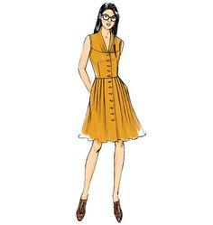 B6090, Misses' Dress and Belt