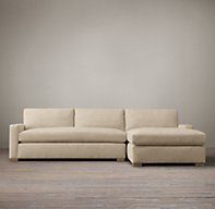 Restoration Hardware - The Petite Maxwell Upholstered Right-Arm Sofa Chaise Sectional