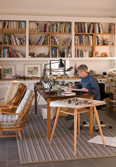 Angie Lewin's Highland studio - photographed by Cristian Barnett for Country Living magazine (April 2015 issue)