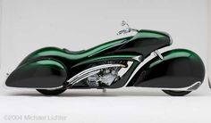 """Smoothness"" custom motorcycle built by Arlen Ness in Dublin, CA, 2001.  Photographed by Michael Lichter in Dublin, CA. ©2004"