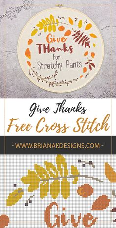 Those stretchy pants are crucial around the holidays for maximum relaxation. So let's Give Thanks For Stretchy Pants. Cross Stitch Designs, Cross Stitch Patterns, Crochet Patterns, Sewing Hacks, Sewing Crafts, Cross Stitch Silhouette, Silhouette Cameo, Weekend Crafts, Learn To Sew